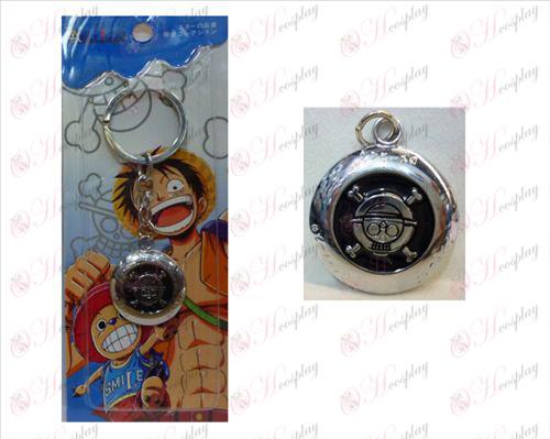 One Piece Accessories circular logo keychain