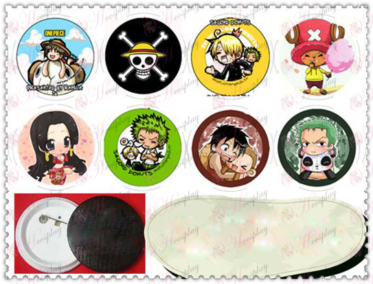 58MM Gyrosigma badge-One Piece Accessories multiplayer Q version