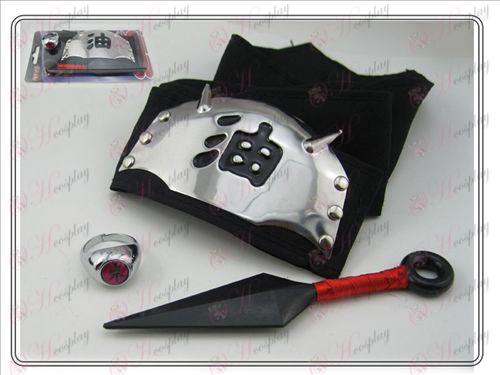 Naruto nem rendelkező ring + + fekete olaj fejpánt (három darab)