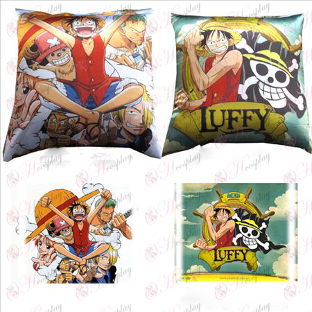96 # full-color square pillow (Luffy)