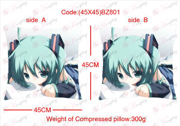 (45X45) BZ801-Hatsune Miku Accessories Anime sided square pillow