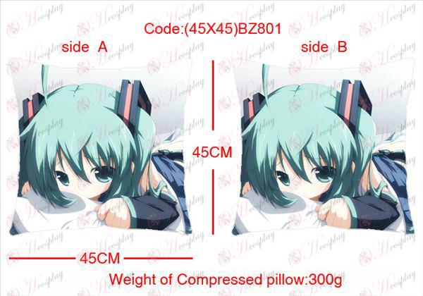 (45X45) BZ801-Hatsune Miku Tilbehør Anime sidet firkantet pude