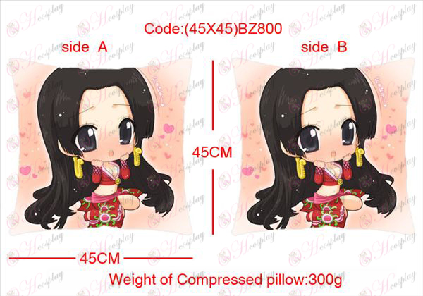 (45X45) BZ800-One Piece Accessories Anime sided square pillow
