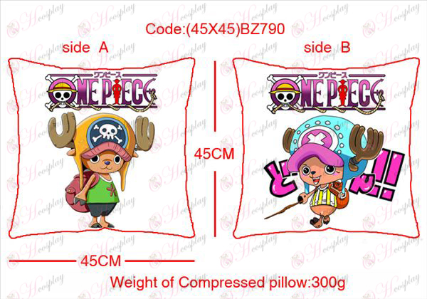 (45X45) BZ790-One Piece Accessories Anime sided square pillow