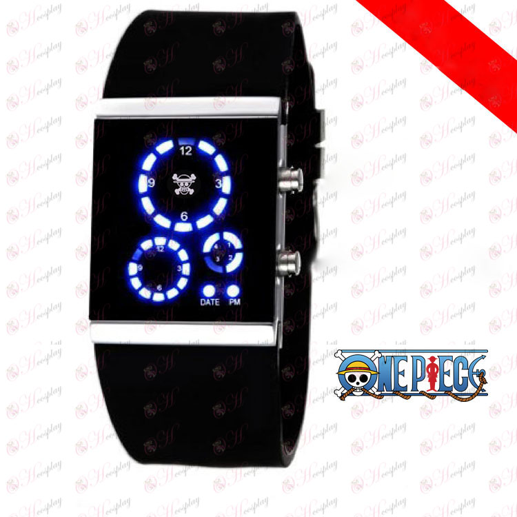 Luffy One Piece Accessories LED watch Korean version of the black flag