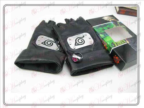 Naruto Kakashi rukavice + krúžok (sedacie)