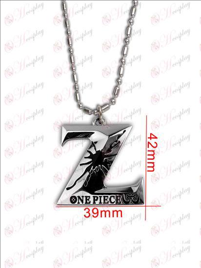 One Piece AccessoriesZ sign necklace