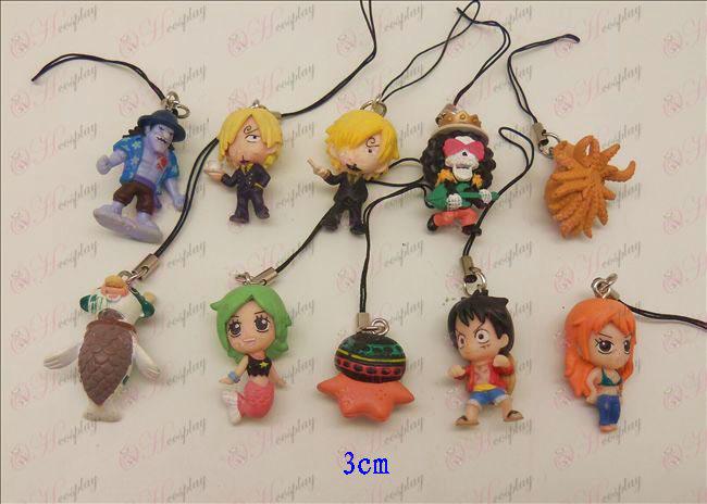 10 One Piece Accessoires (3cm) Doll