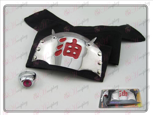 Naruto headband + Zhu marked Ring (piece suit)