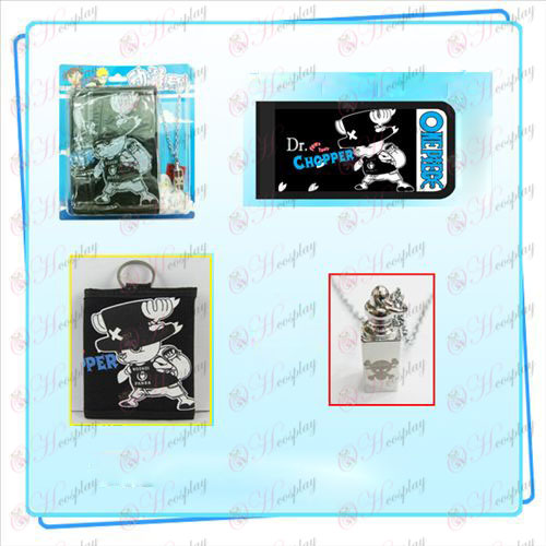 One Piece Accessories Chopper necklace fold wallet combo (necklace random distribution)