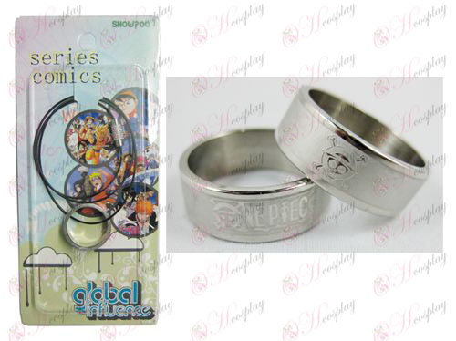 One Piece Accessories Chopper Frosted Ring Necklace - Rope