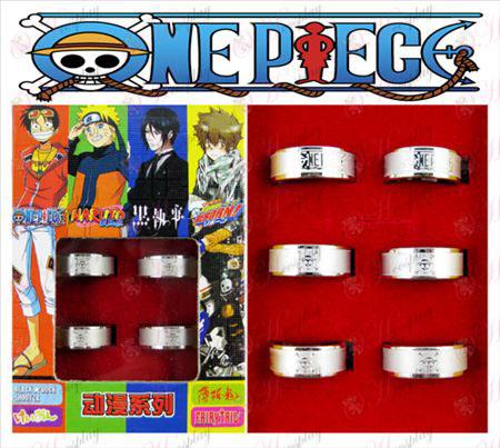 One Piece אבזרים צ'ופר חלבית טבעת (6 / סט)