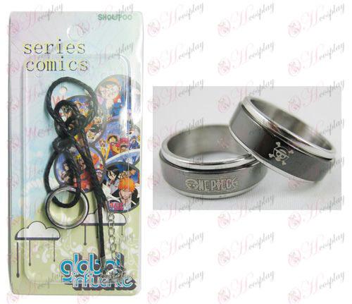 אבזרים שרשרת One Piece טרנספורטר ג'ו שחור פלדת טבעת - חבל