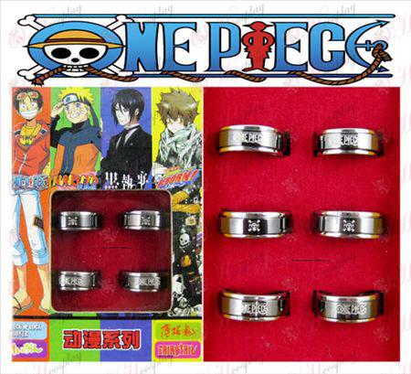 One Piece Accessories Joe Black steel rotating ring (6 / set)