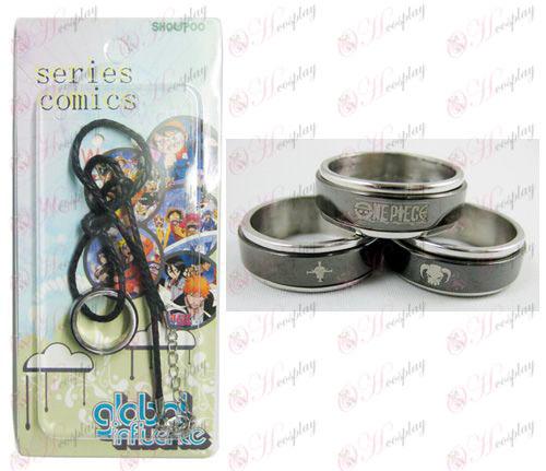 One Piece Príslušenstvo Ice Black Steel Prsteň Náhrdelník transporter - laná