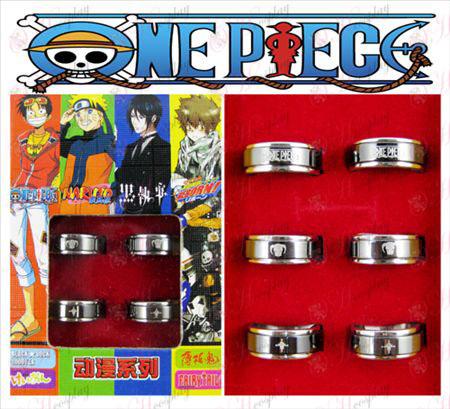 One Piece tartozékok Exelon Fekete acél forgó gyűrű (6 / set)
