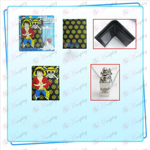 Luffy One Piece Accessories Combo necklace purse