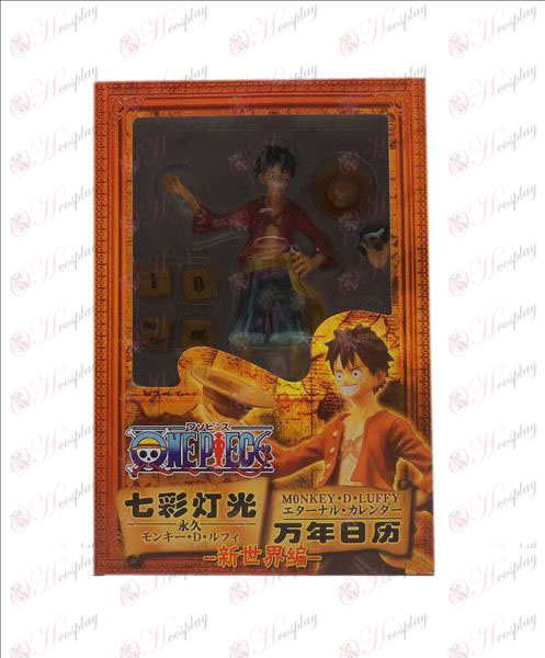 One Piece Accessories Luffy hand to do the calendar colorful lights