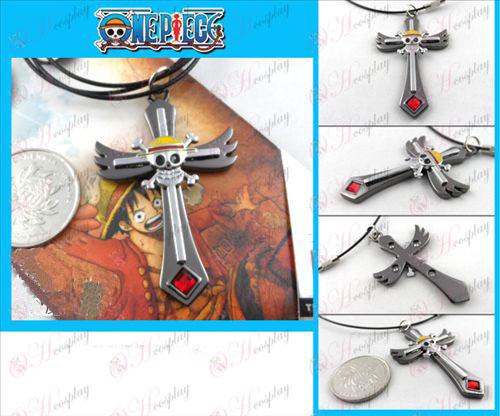 One Piece Accessories Skull Necklace gun color