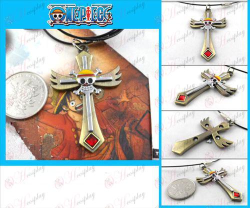 One Piece Accessories bronze skull necklace