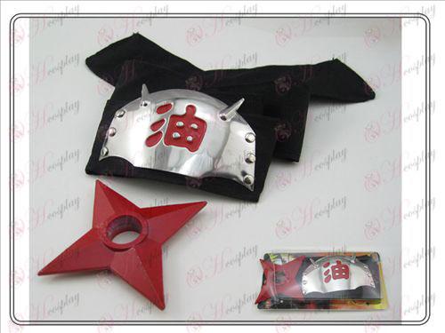 Naruto rot markiert Stirnband + Shuriken (Sitzgruppe)