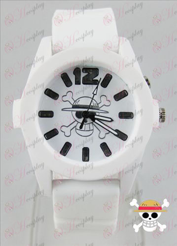 One Piece Accessories colorful flashing lights Watch - White