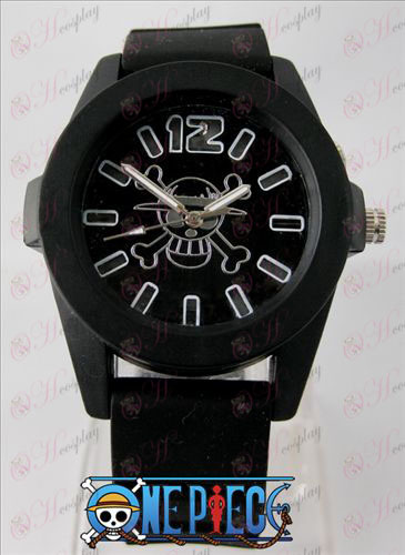 One Piece Accessories colorful flashing lights Watch - Black