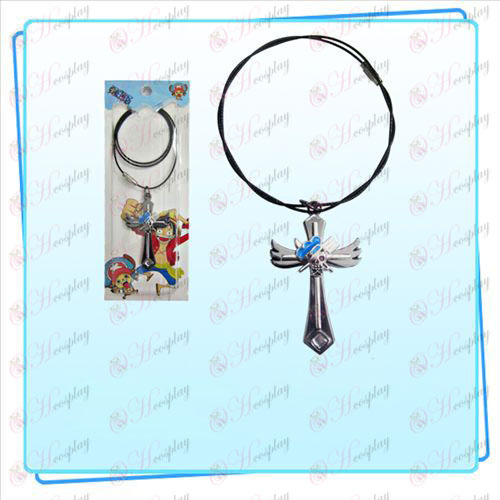 One Piece Accessories Sunkist logo wings cross wire chain