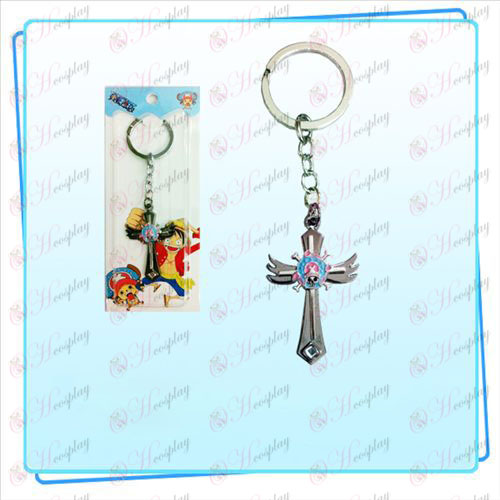 One Piece Kiegészítők Chopper logo kulcstartó szárny kereszt