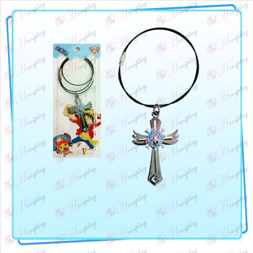 One Piece Accessories Chopper logo wings cross wire chain