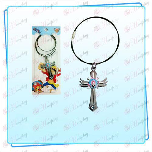 One Piece Tilbehør Chopper logo vinger cross wire kæde