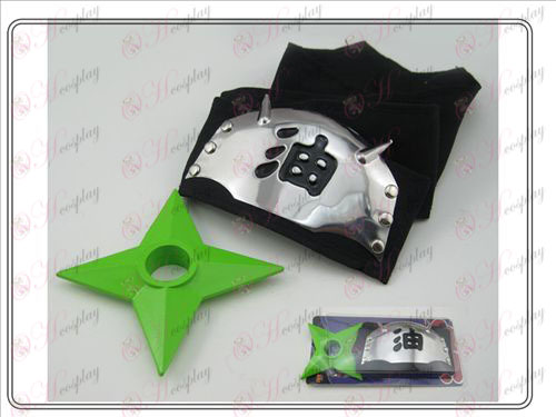 Naruto čelenka + l Zelená Čierna olej Shuriken (oblek kusu)