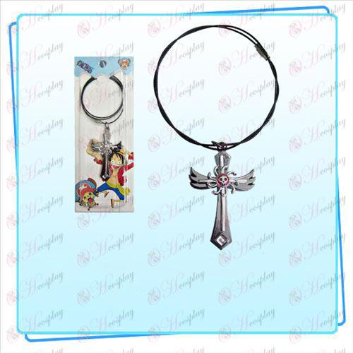 One Piece Tillbehör Kvinna Emperor flagga vinge kors tråd kedja