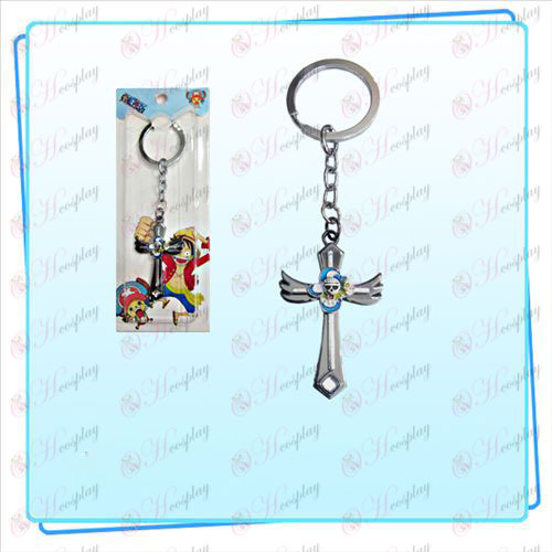 Nami One Piece Accessories wing cross flag key ring