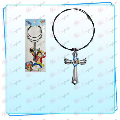 One Piece Accessories Nami flag wings cross wire chain