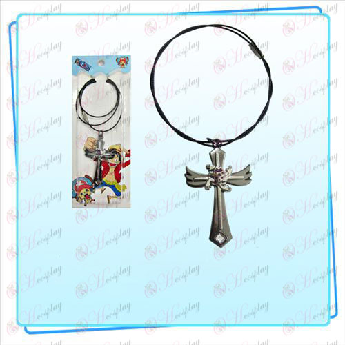 One Piece Accessories Robin flag wing cross wire chain