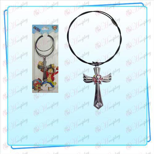 One Piece tillbehör vinge kors tråd kedja Frankie flag