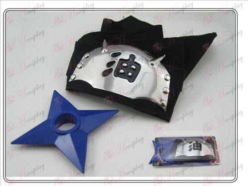 Naruto fejpánt + l kék fekete olaj Shuriken (ülőgarnitúra)