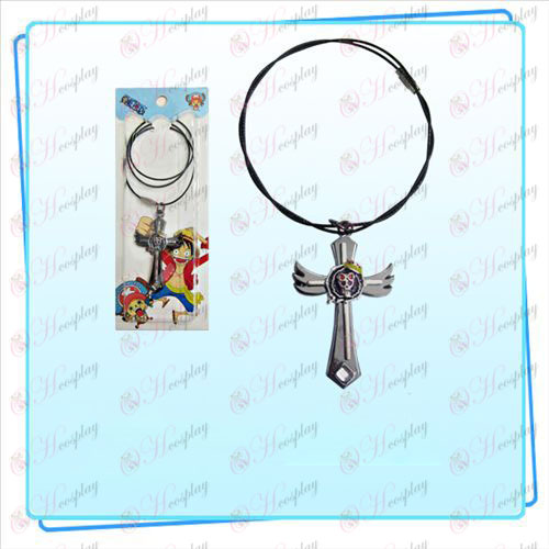 One Piece Accessories Brook flag wing cross wire chain