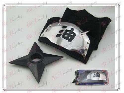 Naruto лента за глава + L черен мазут Shuriken (мека мебел)