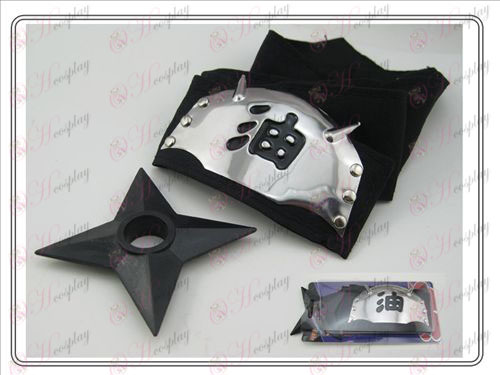 Naruto fejpánt + l black fekete olaj Shuriken (ülőgarnitúra)