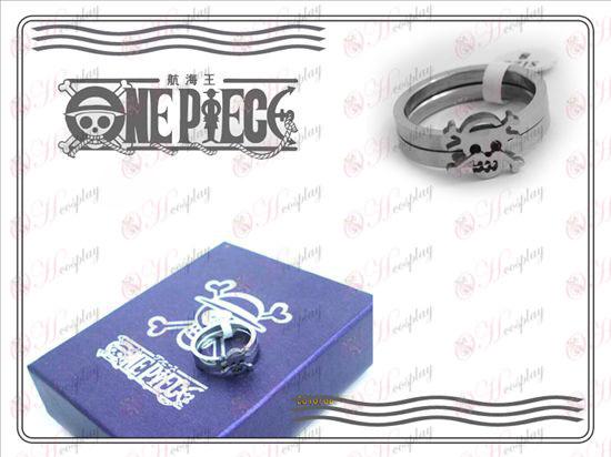 One Piece Accessori paio di anelli in acciaio inossidabile (sezione B)