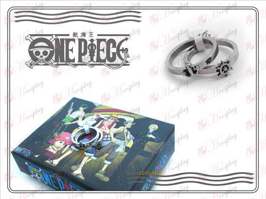 One Piece Kiegészítők rozsdamentes pár gyűrű (A rész)
