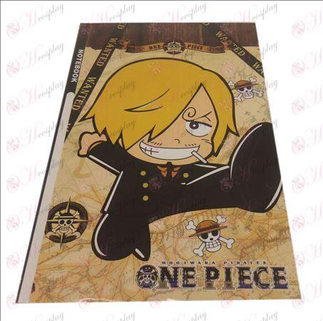 QOne Piece Tilbehør Sanji notebook