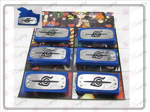 Naruto 6 monterad pannband blå rebell fördragsamhet