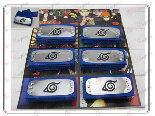 Naruto Konoha 6 equipada bandana azul