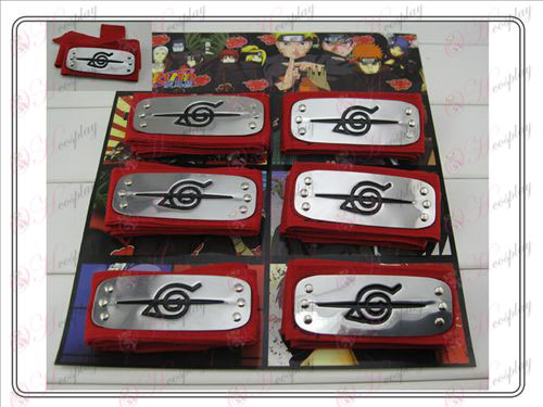 Naruto 6 fitted headband red rebel forbearance