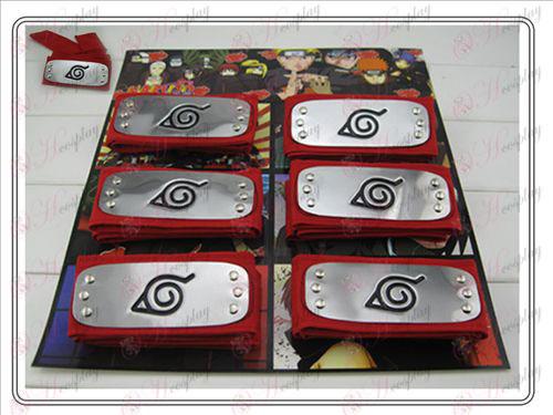 Naruto konoha red headband mounted 6