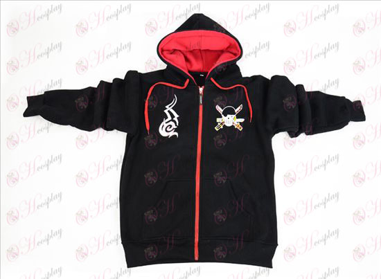 One Piece Tillbehör Sauron svart ZipperHoodie sweater