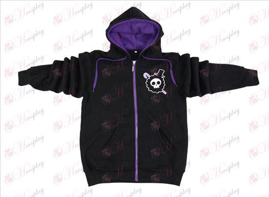One Piece Tilbehør Brook sort lynlås hoodie sweater